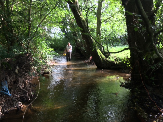 Surveying Cound Brook
